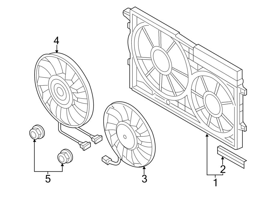 2014 Volkswagen SportWagen Radiator Shutter Assembly