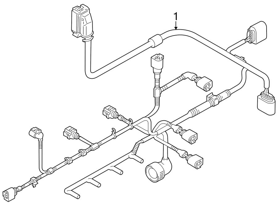 2013 Volkswagen SportWagen Engine harness. Engine Wiring