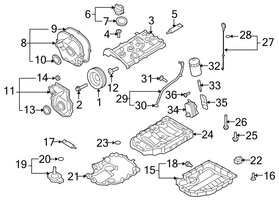 2009 Volkswagen GTI Engine Timing Cover Gasket (Front