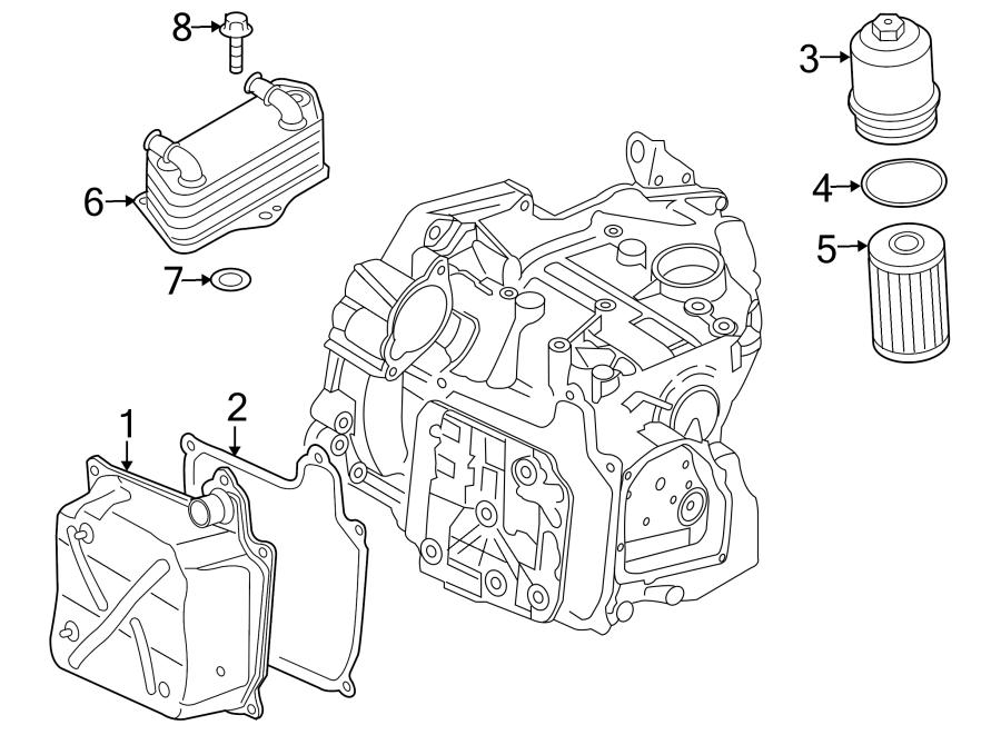 2009 Volkswagen GTI Cooler. SEAL. Oil. Ring. TRANSMISSION
