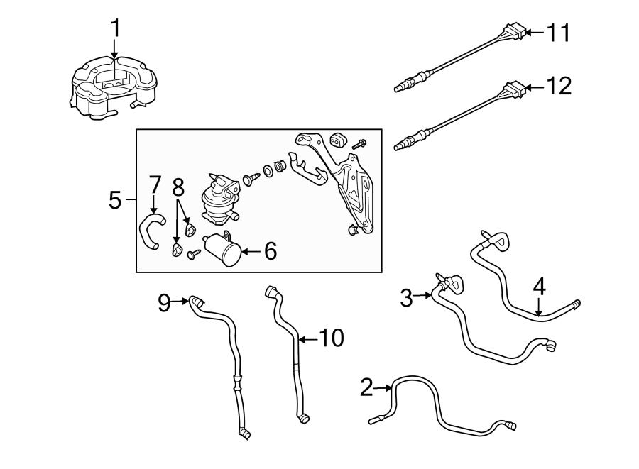 2007 Volkswagen GTI Evaporative Emissions System Lines. 2