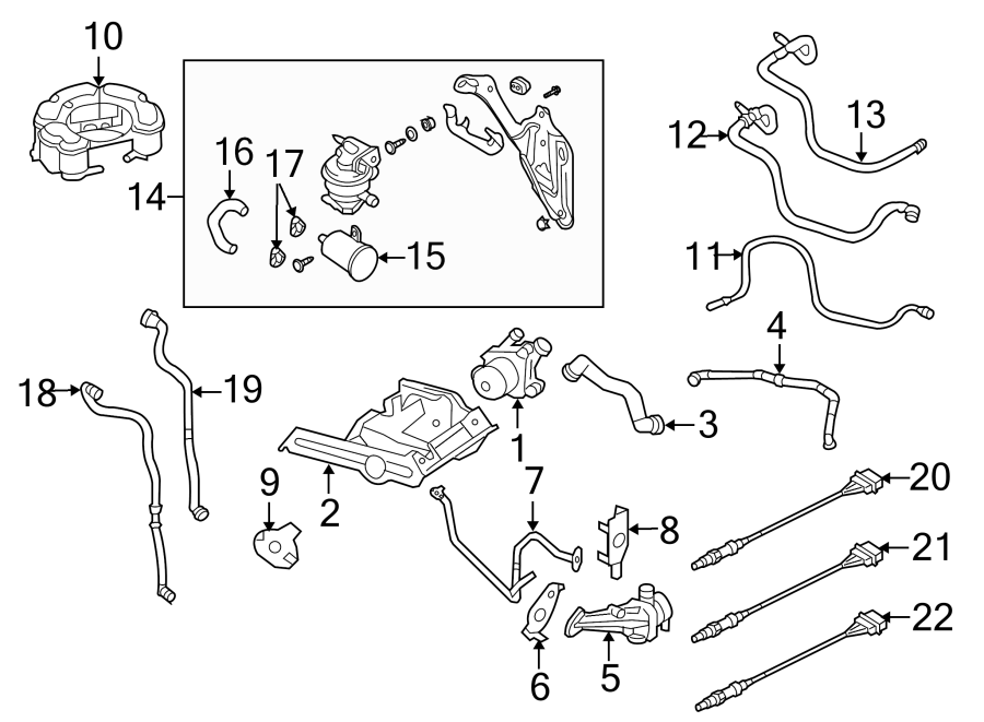 2009 Volkswagen Rabbit Connector hose. Evaporative