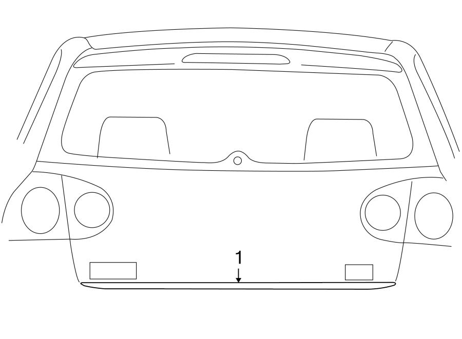 2006 Volkswagen Rabbit Liftgate Reveal Molding (Lower
