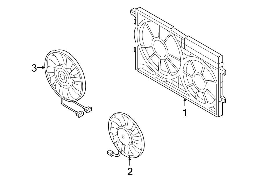 2007 Volkswagen Rabbit Engine Cooling Fan Shroud (Front