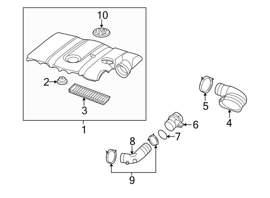 2006 Volkswagen Rabbit Connector pipe. Engine Air Intake
