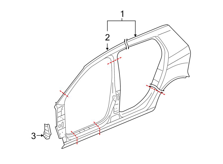2009 Volkswagen GTI Uniside. Panel, DOOR, Aperture