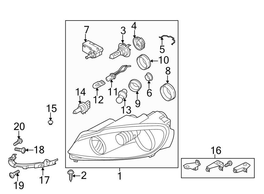2011 Volkswagen GTI Socket. Bulb. 2012-13, W/R. W/O
