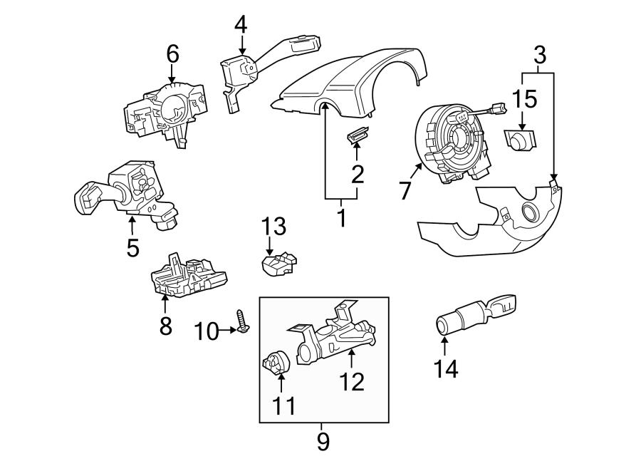 2007 Volkswagen Rabbit Harness. STEERING, Column, SWITCHES