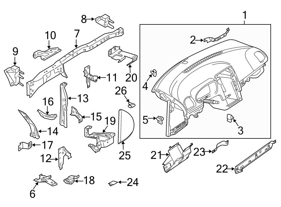 2013 Volkswagen GTI Support. Panel. Instrument. Bracket