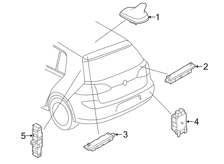 2015 Volkswagen GTI Antenna. Amplifier. Booster. Radio