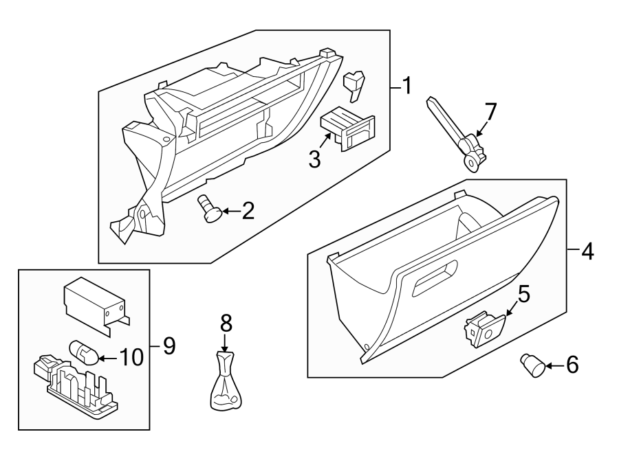2019 Volkswagen GTI Box. Glove. Bumper. PANEL, INSTRUMENT