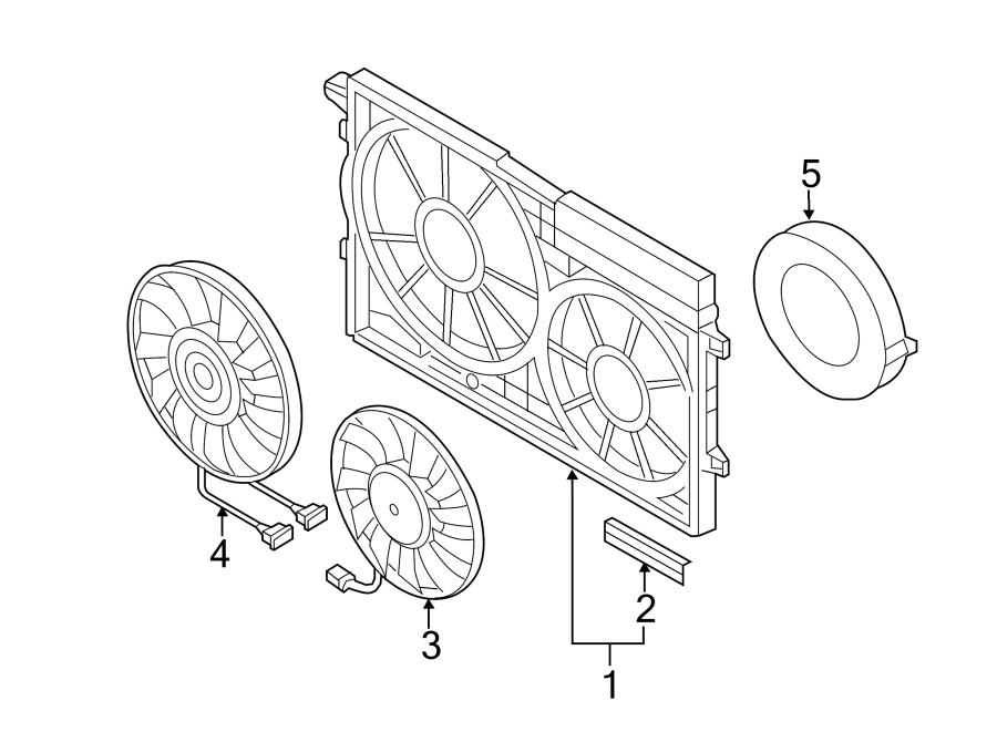 2014 Volkswagen Jetta Engine Cooling Fan Motor. Left