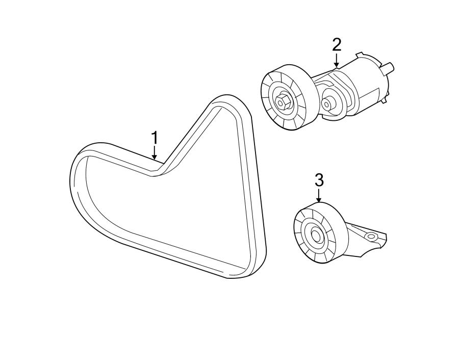 2010 Volkswagen Beetle Accessory Drive Belt Tensioner
