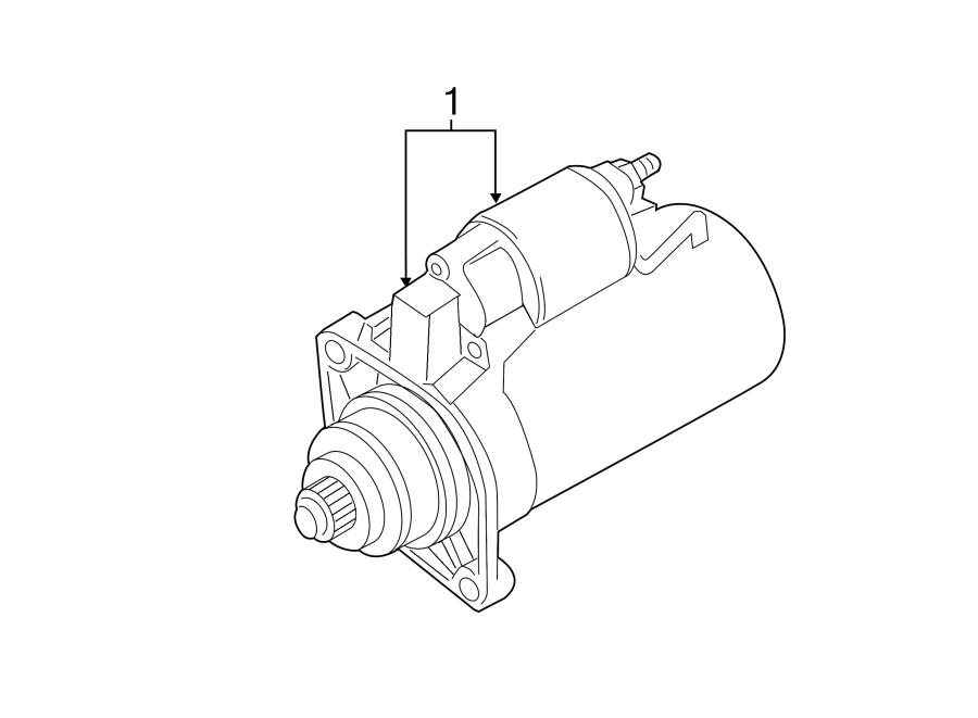 2011 Volkswagen Jetta Starter Motor. LITER, Remanufactured