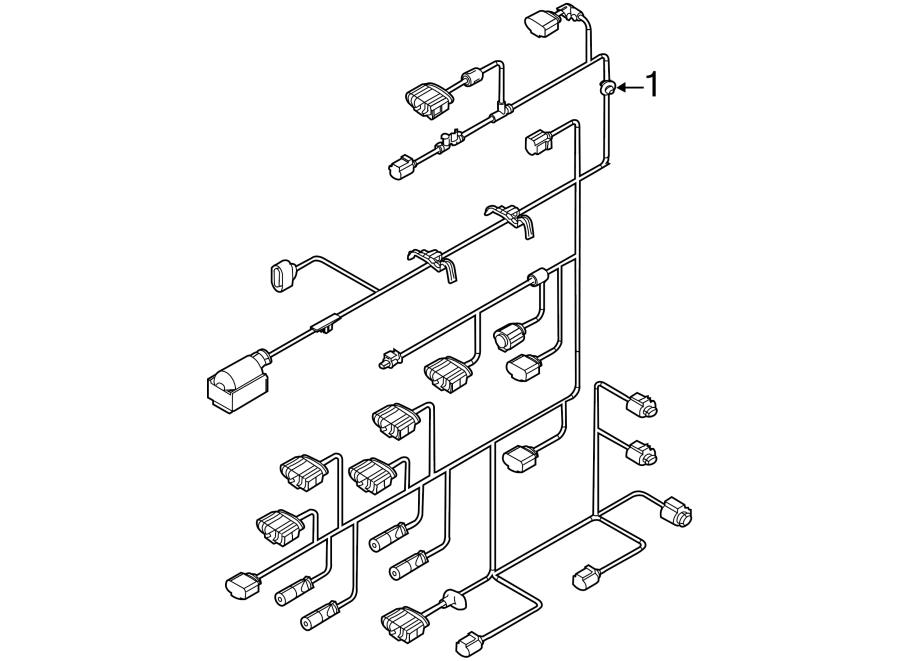 2014 Volkswagen Jetta Engine harness. Engine Wiring