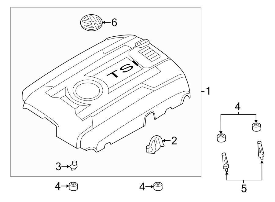 2015 Volkswagen Jetta GLI Engine Cover. 1.8 LITER. 2014-18