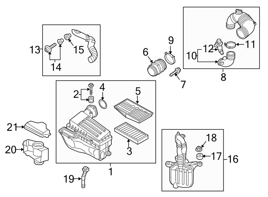 2015 Volkswagen Jetta Engine Air Intake Hose. 2.0 LITER