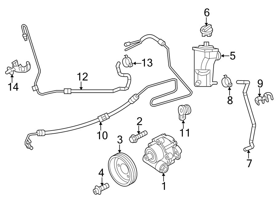 2013 Volkswagen Jetta Hose. Clip. LITER, Steering, DIESEL