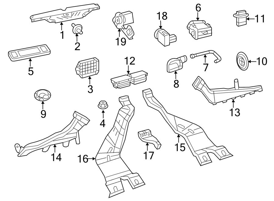 2014 Volkswagen Jetta GLI Instrument Panel Air Duct (Rear