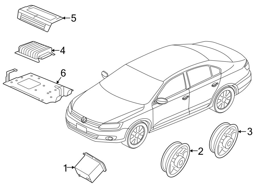 2014 Volkswagen Jetta Hybrid Radio Amplifier. From 01/2013