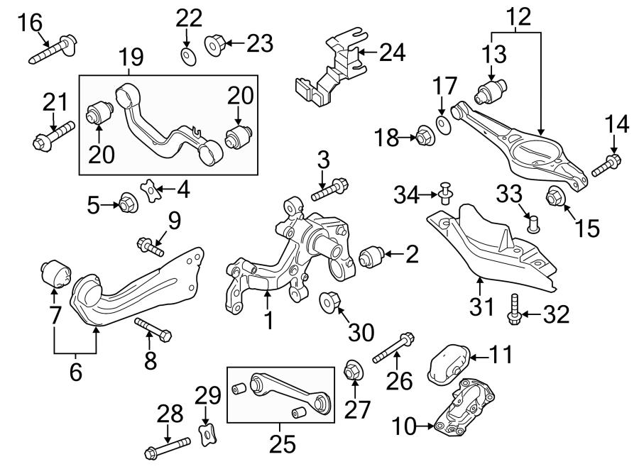 2013 Volkswagen Jetta Hybrid Upper CONTROL arm bracket