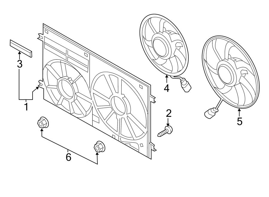 2016 Volkswagen Jetta GLI Engine Cooling Fan Shroud (Front