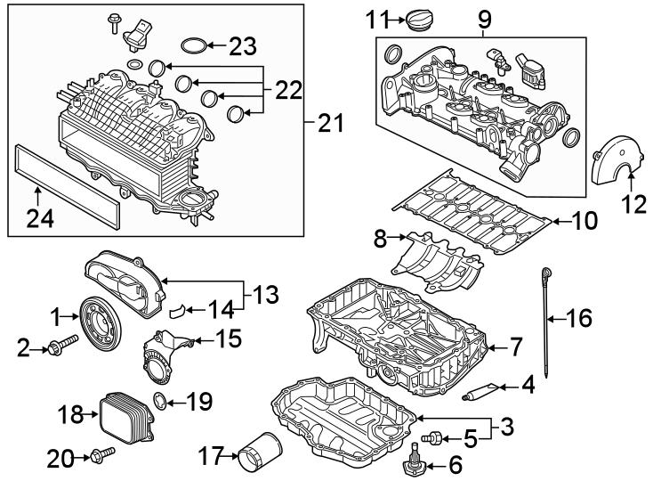 2019 Volkswagen Jetta Engine Valve Cover Gasket. LITER