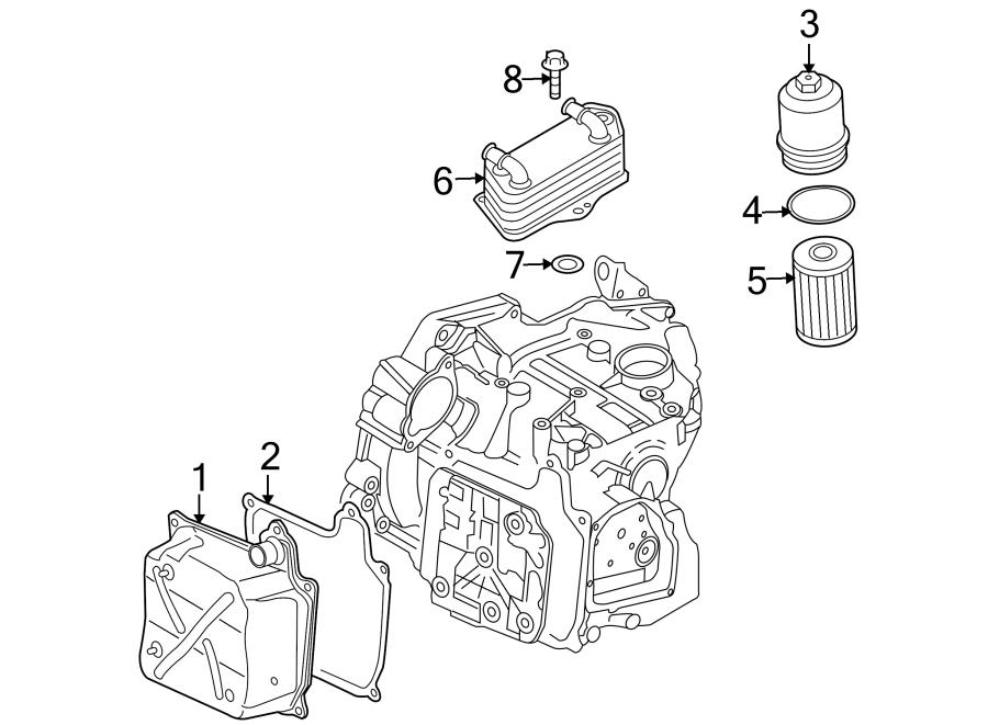2014 Volkswagen Eos Cooler. Seal. Ring. Transmission. Oil