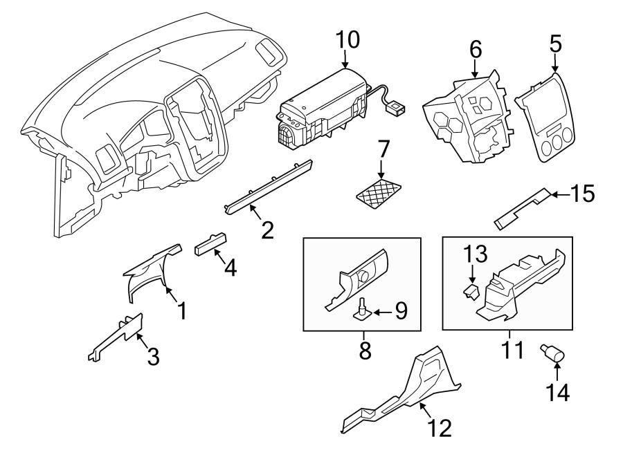 2010 Volkswagen Eos Instrument Panel Knee Bolster. Beige
