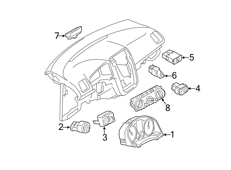 2014 Volkswagen CC Headlight Switch. Fog, Lamps, Rear