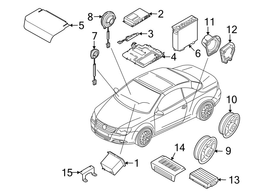 2014 Volkswagen Eos Radio Control Unit. New