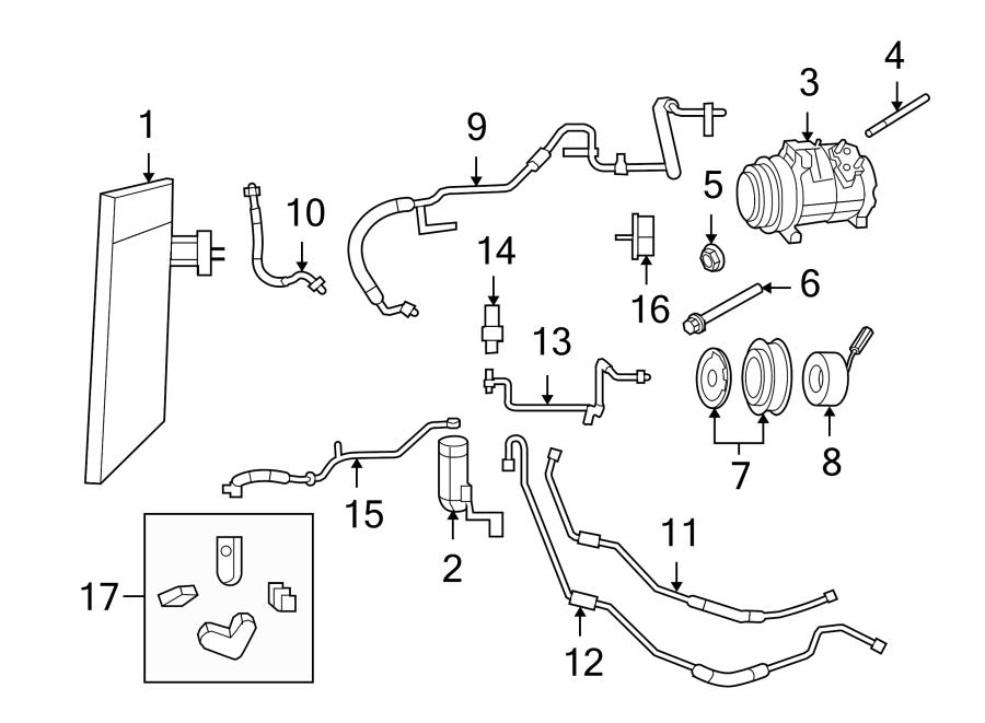 2010 Volkswagen Routan A/c compressor bolt. 4.0 liter. Air