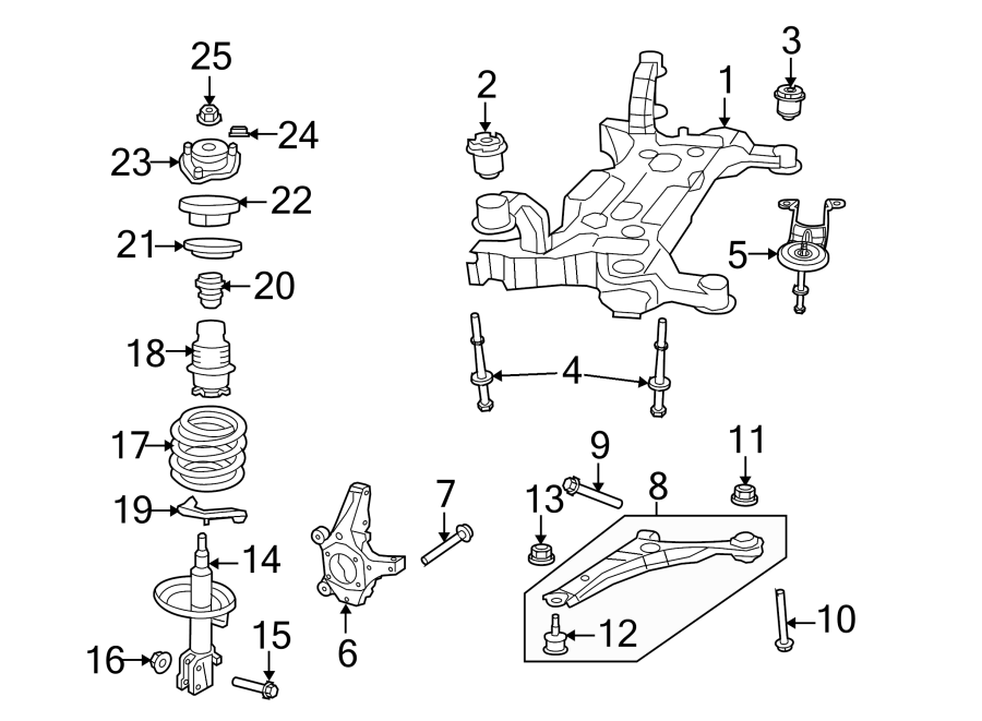 2014 Volkswagen Routan Suspension Crossmember Bolt