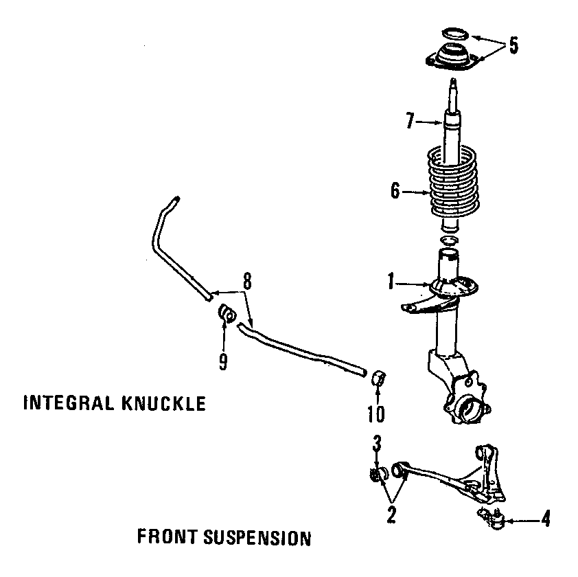 1993 Volkswagen Fox Suspension Control Arm Bushing (Front