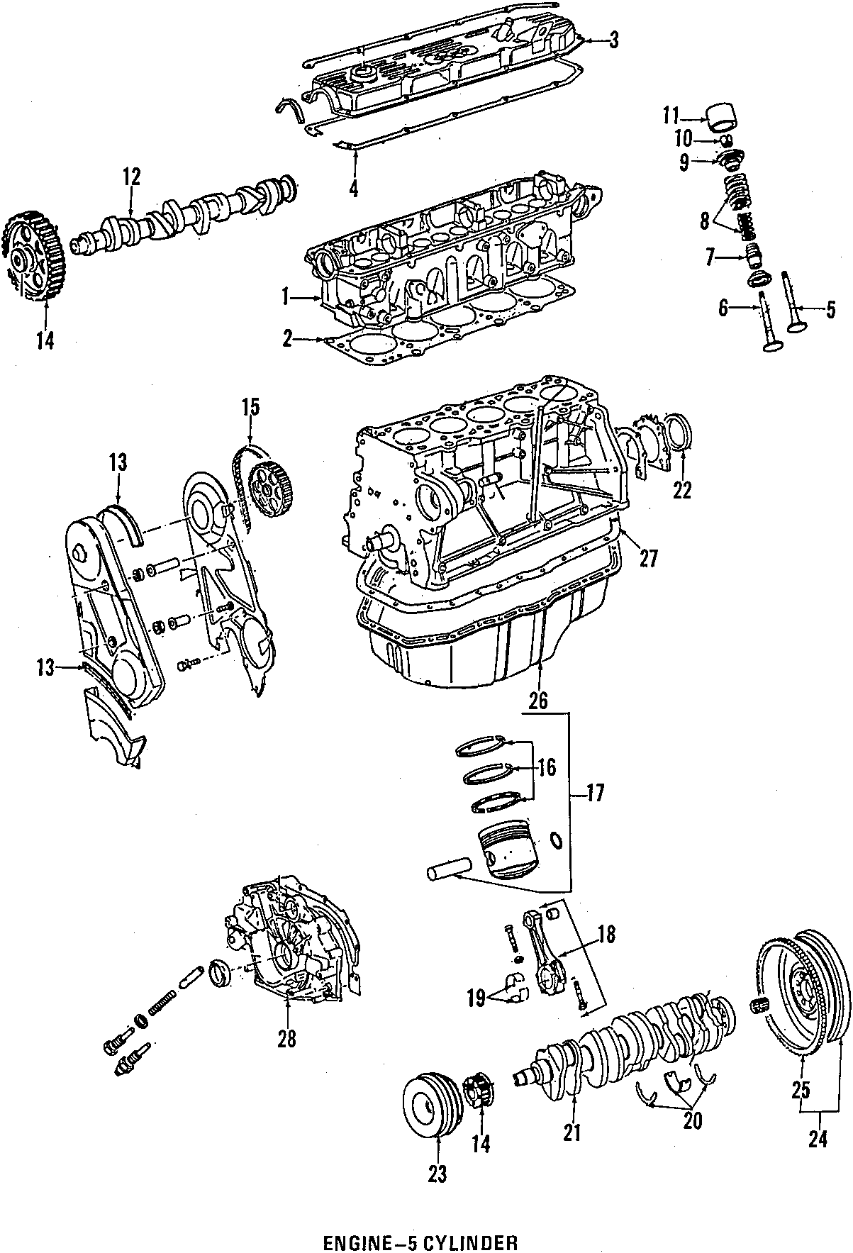 1984 Volkswagen Quantum Engine Oil Pan Gasket. Trans