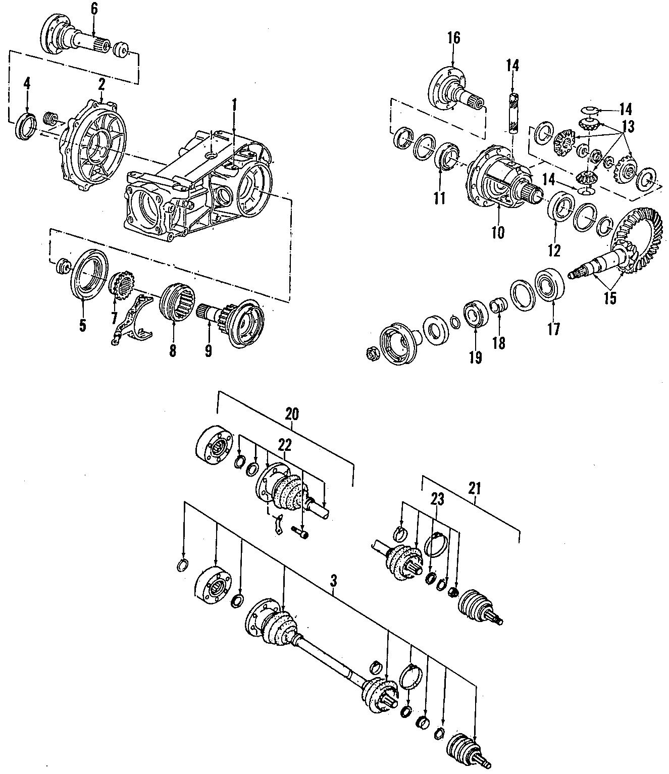 1987 Volkswagen Quantum Cv joint boot kit. Carat