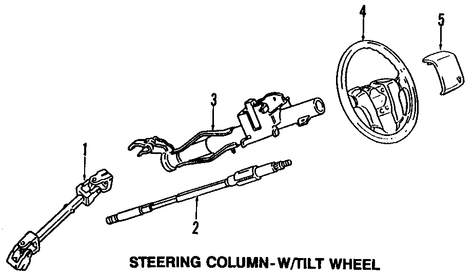 2000 Volkswagen Cabrio Steer col. Steering shaft. Upper