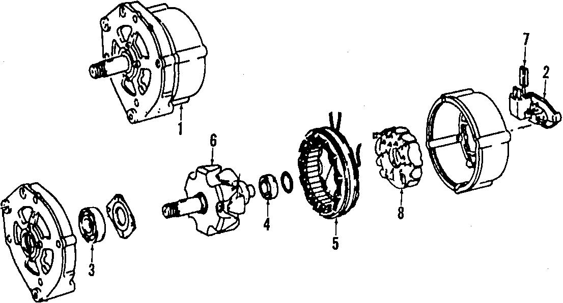 2000 Volkswagen Golf Voltage Regulator. Alternator, Bosch