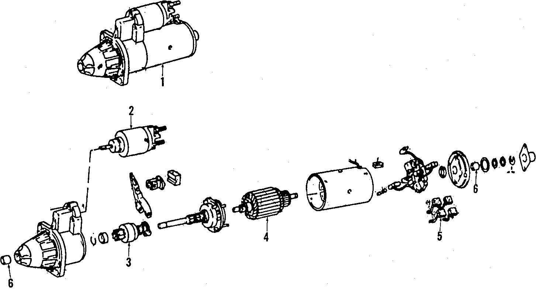 1986 Volkswagen Jetta Starter solenoid. SWITCH. Vendor