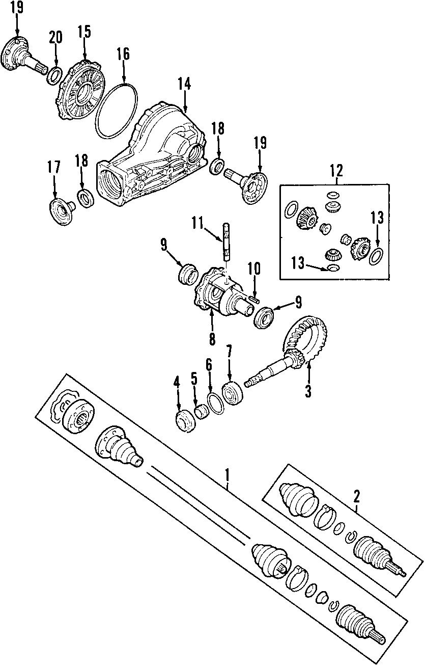 2002 Volkswagen Passat Differential Pinion Bearing. FRONT