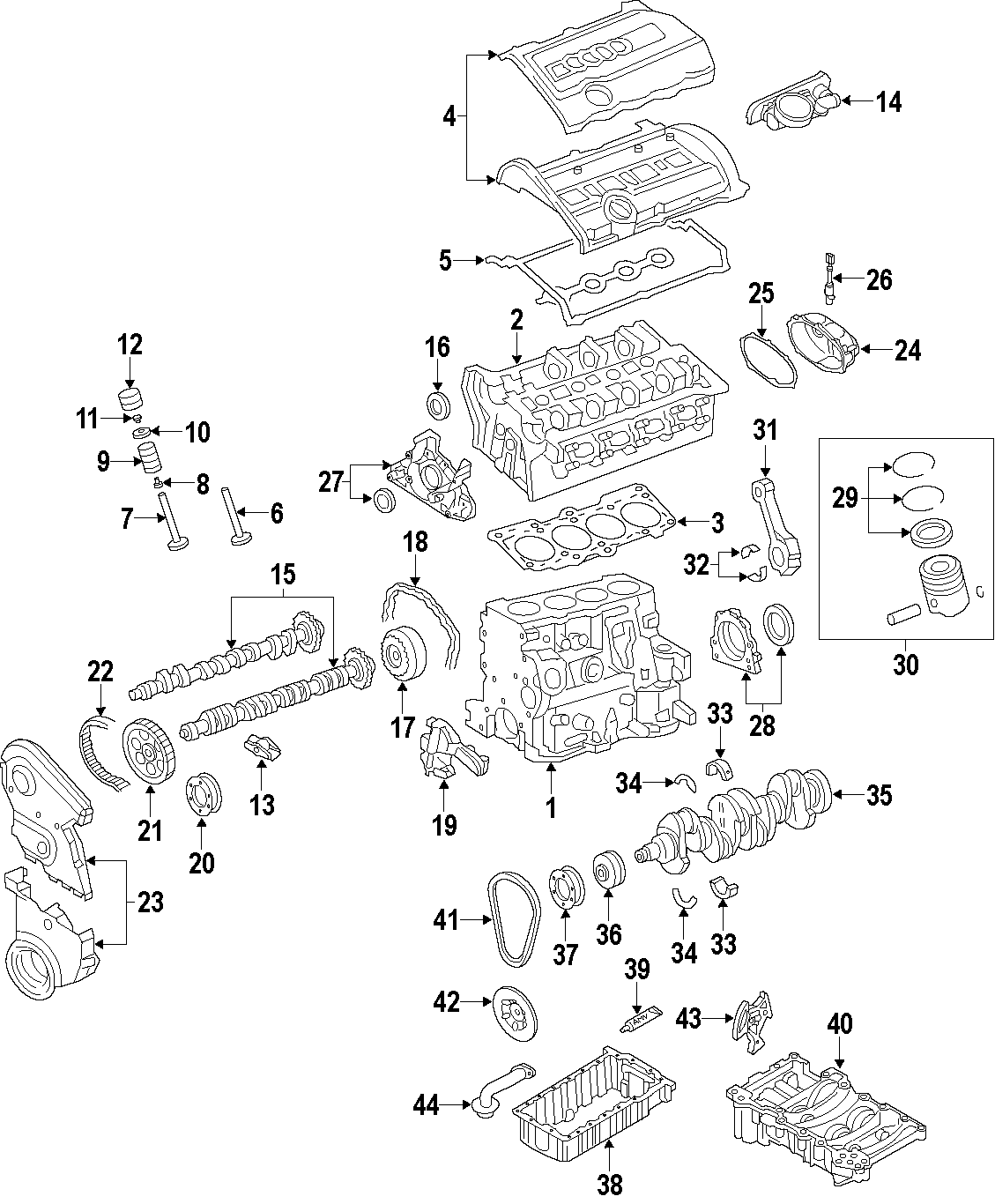 Volkswagen Eos Drive Chain Engine Timing Chain Oil