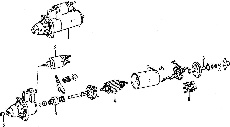 1984 Volkswagen Vanagon Bushings. Front bearing. Starter