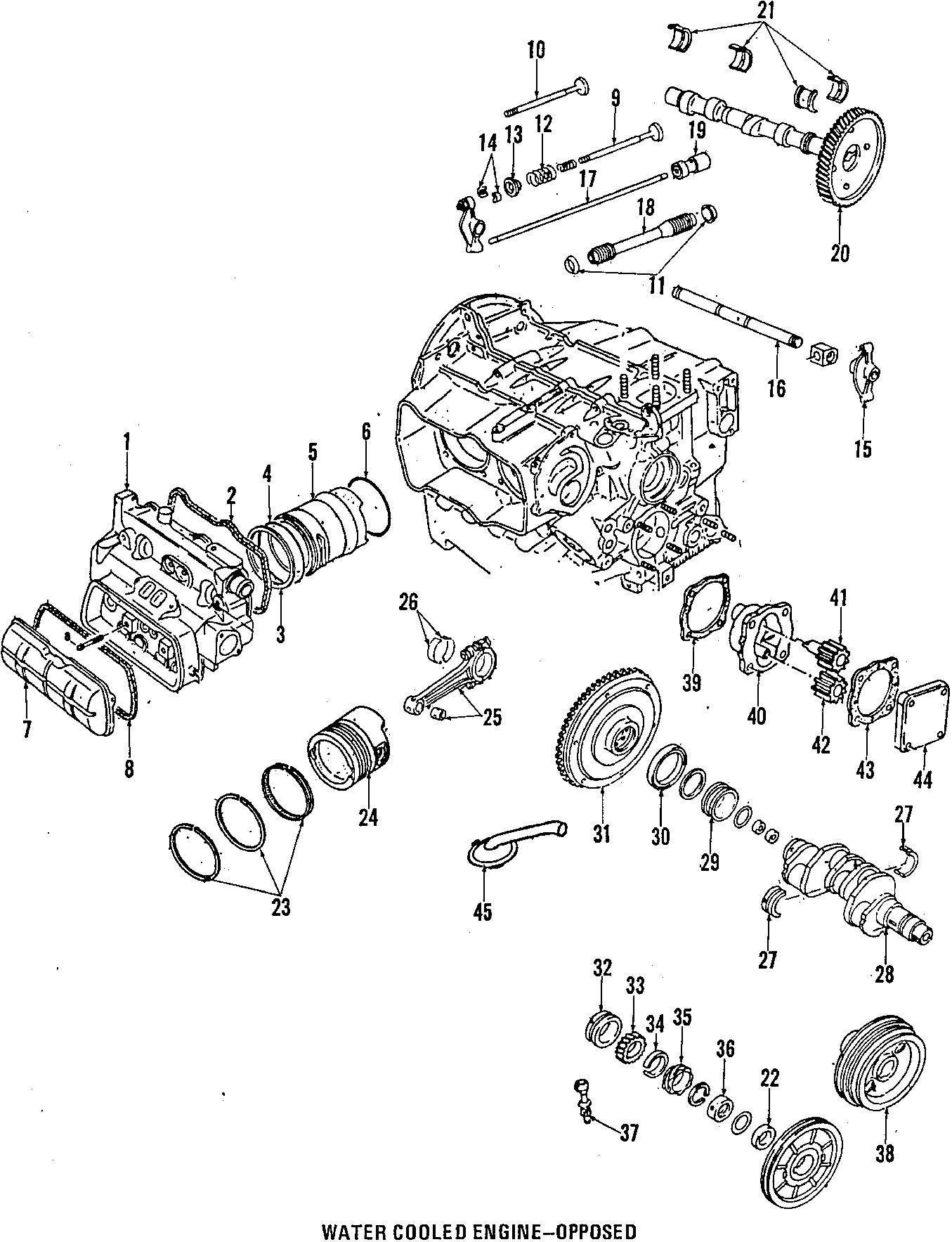 1990 Volkswagen Vanagon Cotter. Valve keepers. Bearings