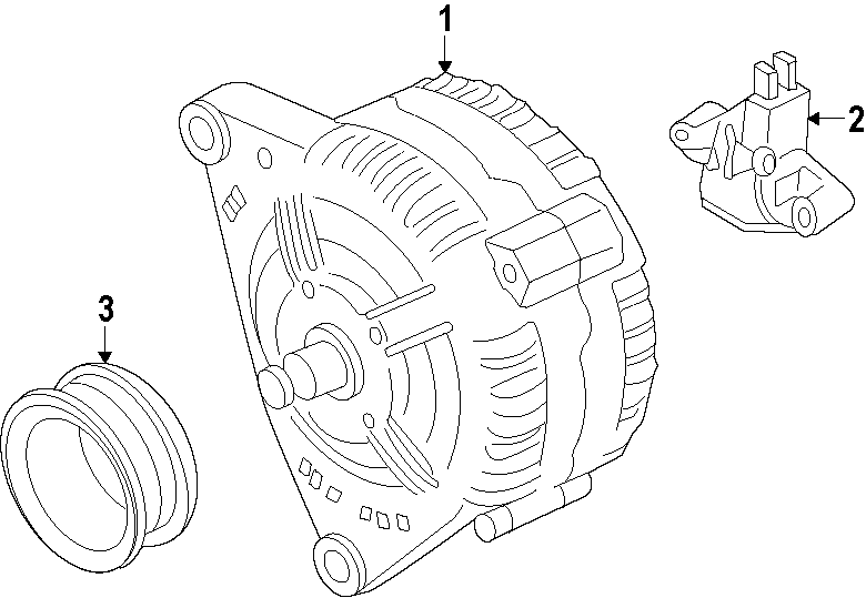 2014 Volkswagen Jetta Alternator. 140 Amp. New, Bosch