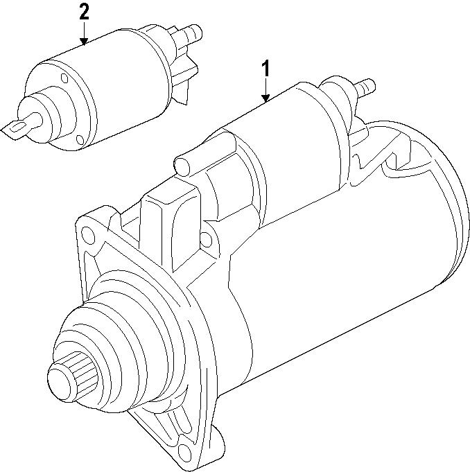 2014 Volkswagen SportWagen Starter Motor. Manual, Trans