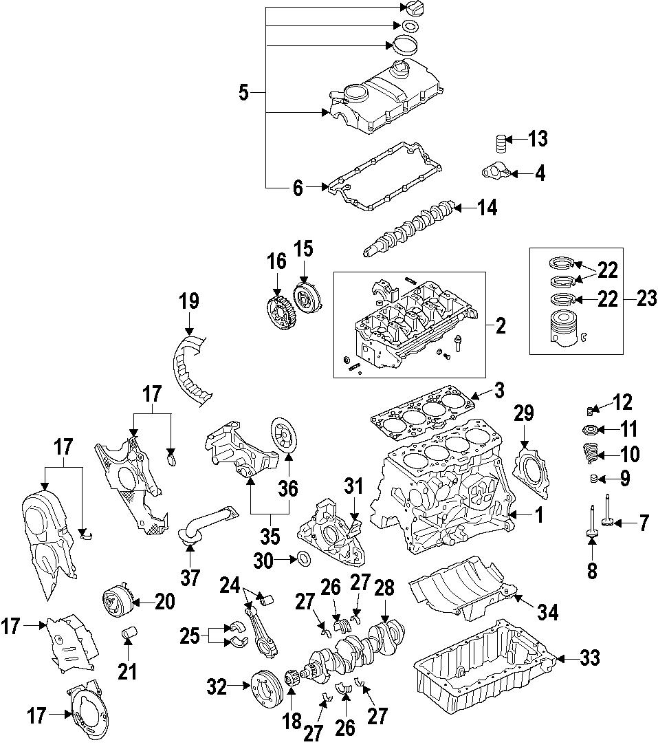 2009 Volkswagen Jetta Wagon Engine Crankshaft Seal (Rear