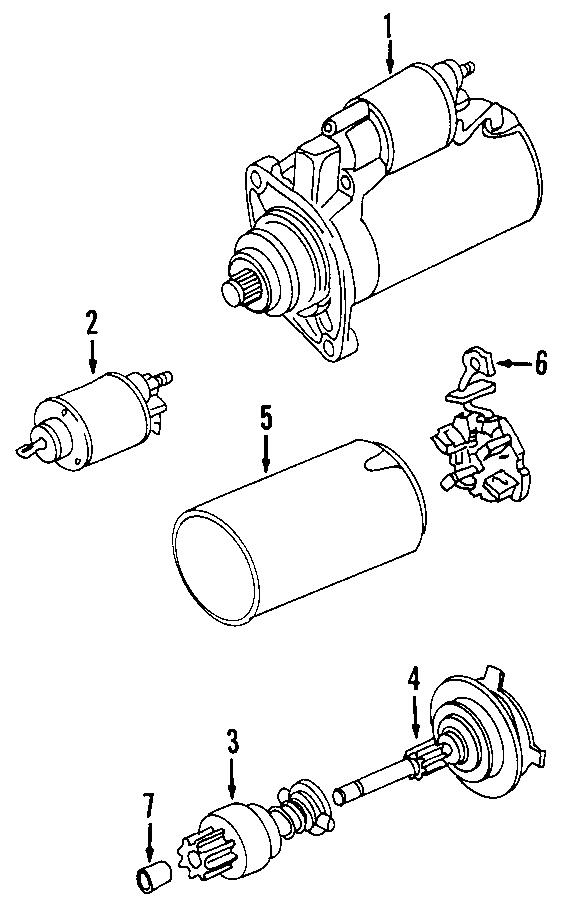 2002 Volkswagen Beetle Bearings. Bushings. Trans, rear