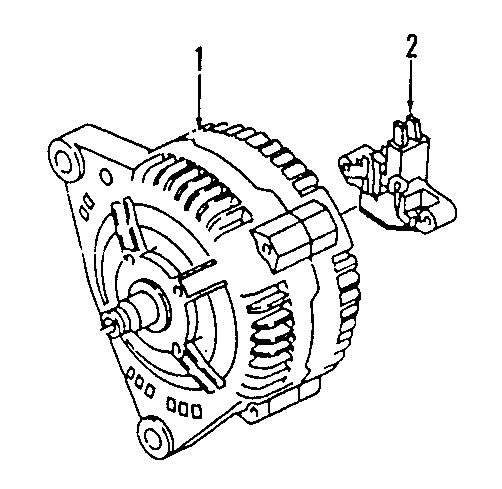 2001 Volkswagen EuroVan Voltage REGULAR. VOLTAGE REGULATOR