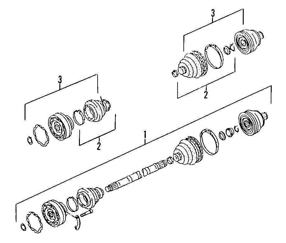 2000 Volkswagen EuroVan Cv axle assembly. Make, left