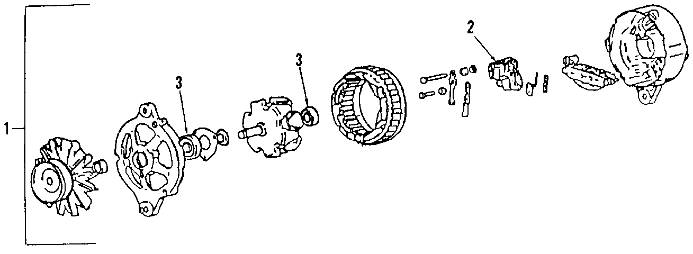 2005 Volkswagen Touareg Alternator. Generator. Touareg; 3